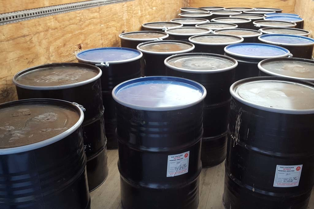 waste barrel transport and disposal